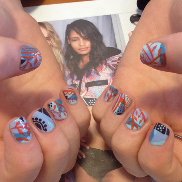 Emilio Pucci Inspired Nails
