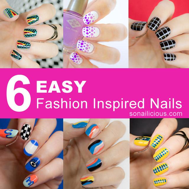 6 easy fashion nail designs