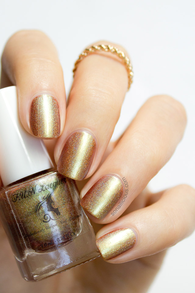 Fun Lacquer Clover gold nail polish shadow