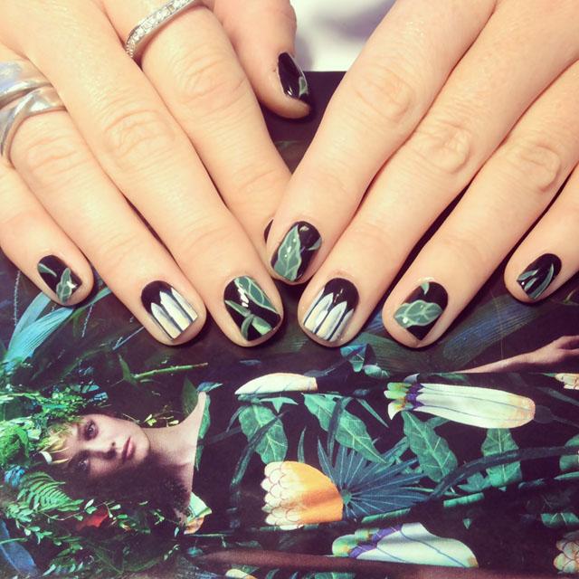 Hermes Inspired Nails