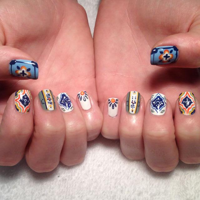 Mexican Ceraic Tile Nails