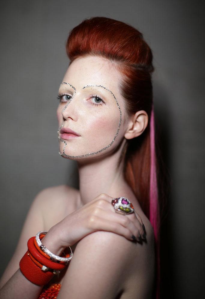 aurelio costarella make up nails 2014 australian fashion week