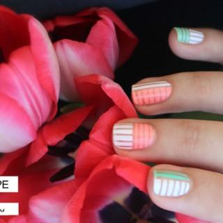 bright pastel nail art