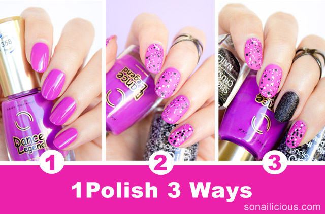 easy nail ideas 1 polish 3 ways