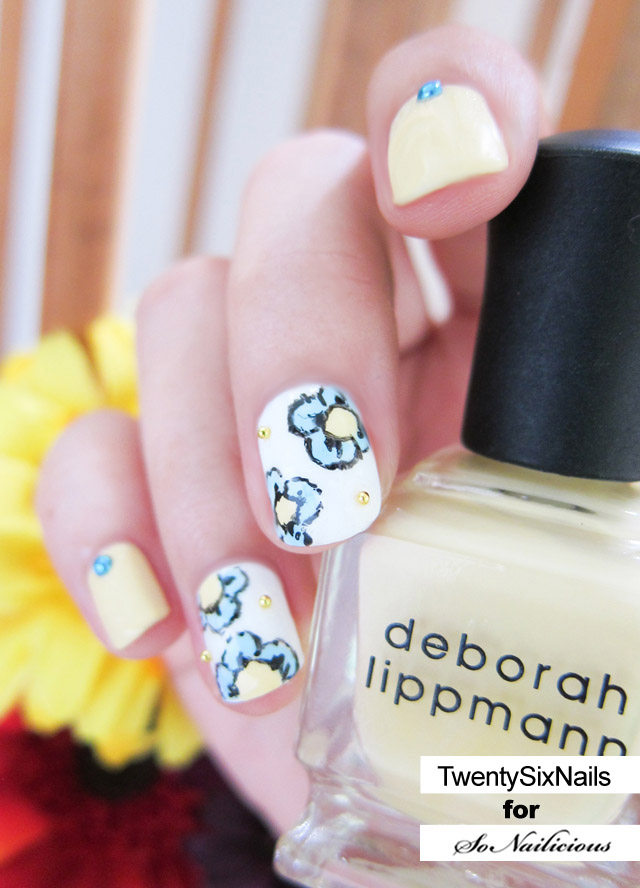 floral nails how to