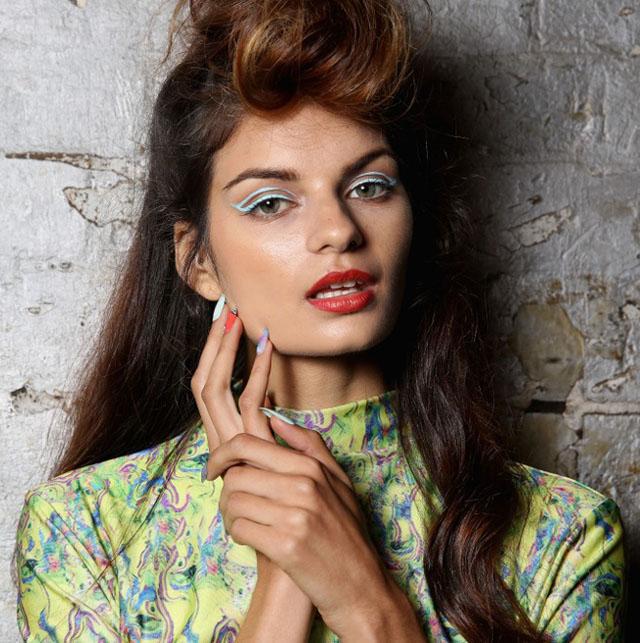 hayley elsaesser make up nails 2014 australian fashion week 3