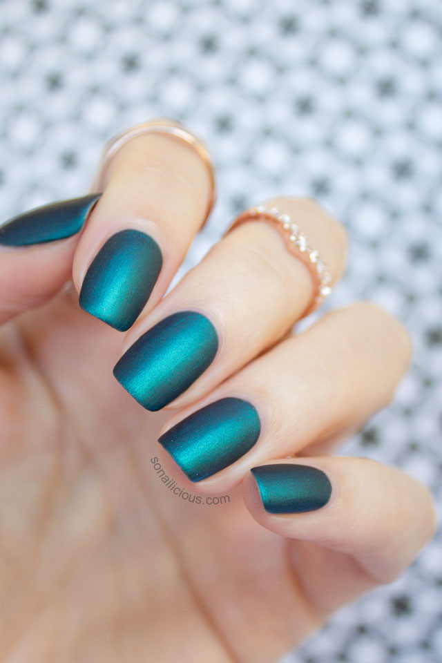 matte emerald nails mint polish czarina