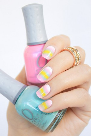 pastel candy nails