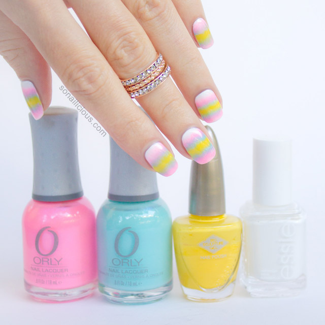 pastel candy nails orly pretty ugly