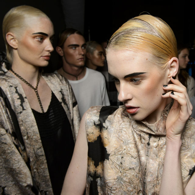 serpent and the swan make up nails 2014 australian fashion week