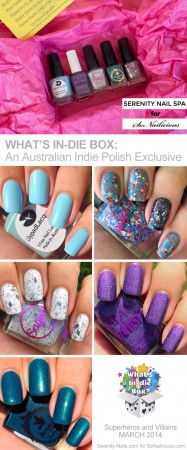 whats in-die box review, australian indie nail polishes