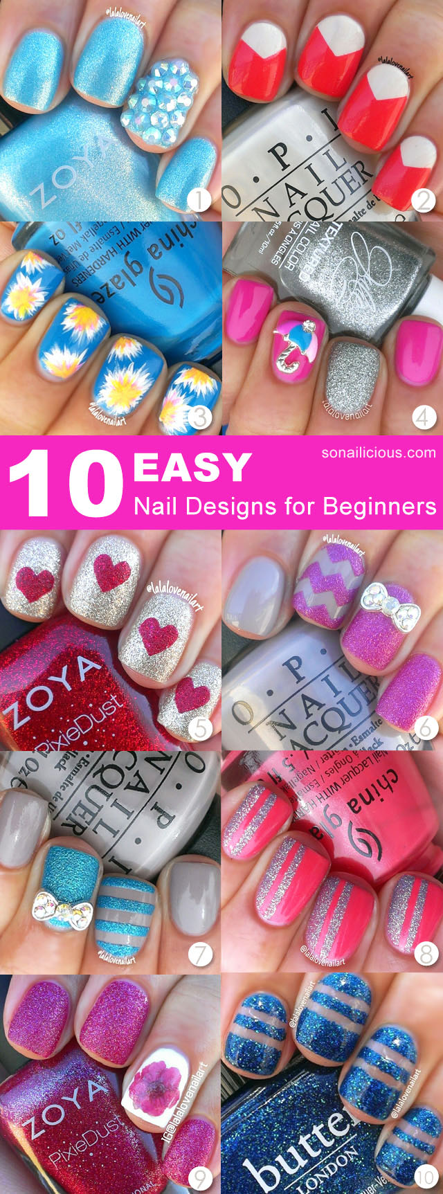 10 easy nail designs for beginners