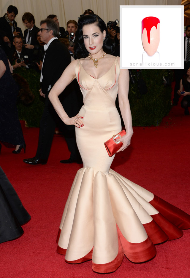 Dita Von Teese Zac Posen gown Met Gala 2014