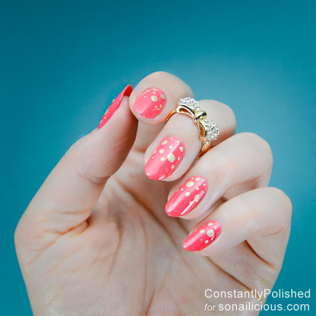 easy manicure ideas polka dot
