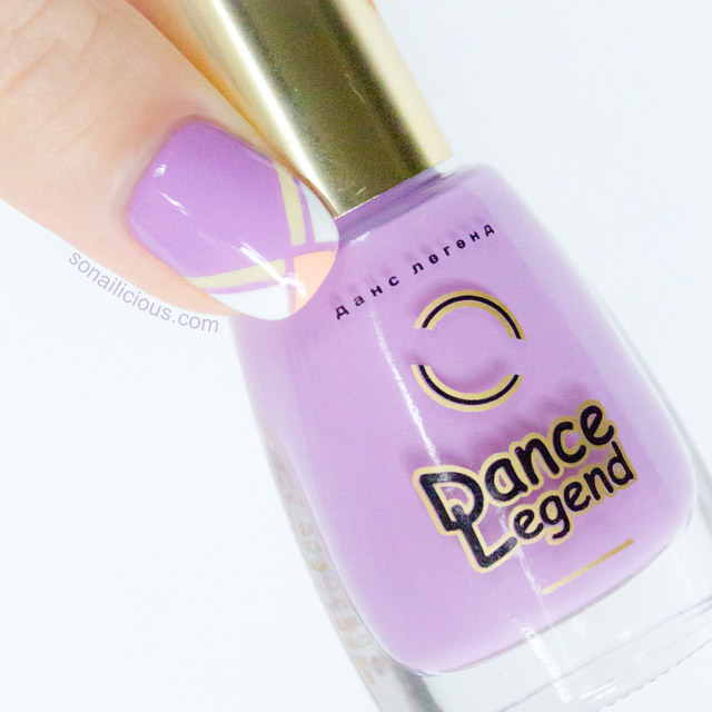 lilac french tips nails