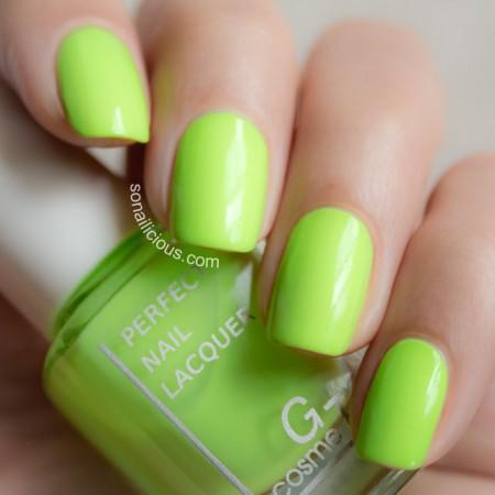 neon nail polish green