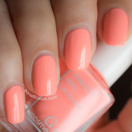 neon nail polish pink