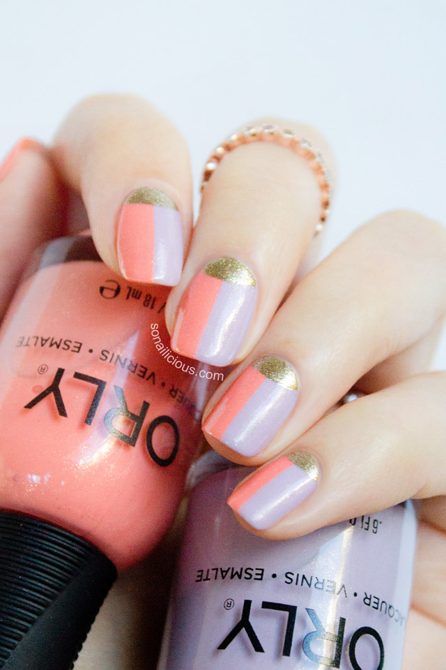 two toned french nails