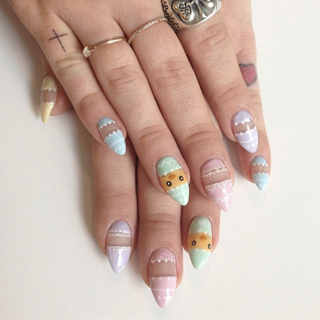 Kelly Osbourne Easter Nails