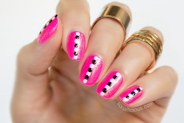 easy and quick dotticure nail art tutorial