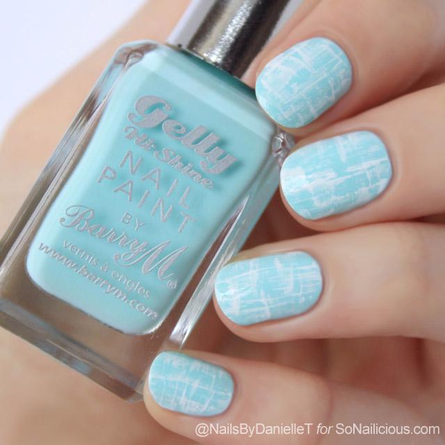 Blue Tweed nails
