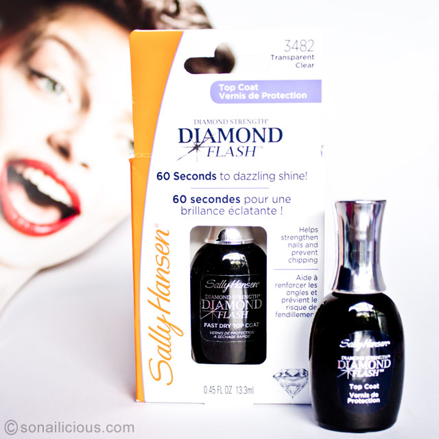 Sally hansen diamond flash fast dry top coat review