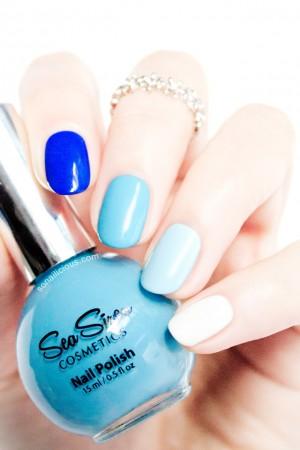 blue ombre nails sea siren polishes