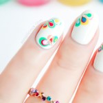 Rainbow Drops Drag Marble Nail Art – Tutorial