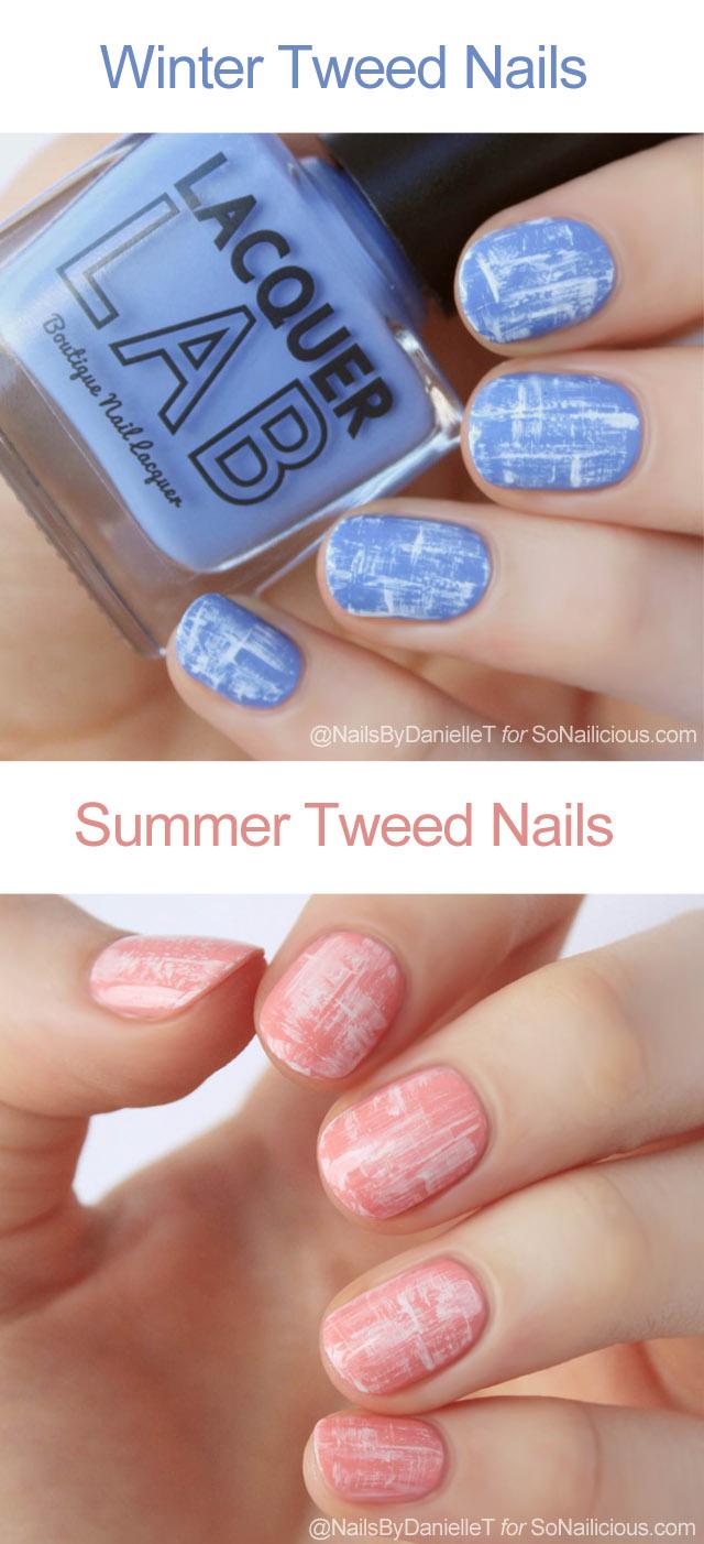 tweed nail art ideas, tutorial