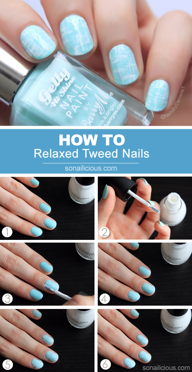 tweed nails tutorial