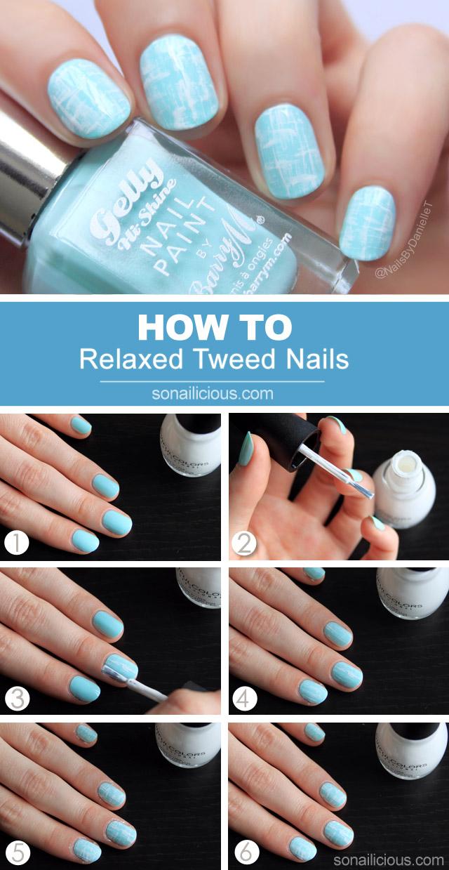 tweed nails tutorial