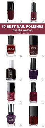 10 best dark red nail polishes, mia wallace pulp fiction