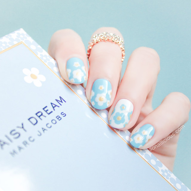 Marc jacobs daisy dream nail artMarc jacobs daisy dream nail art