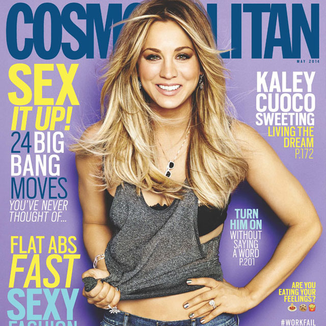 Nails for Kaley Cuoco Cosmopolitan cover