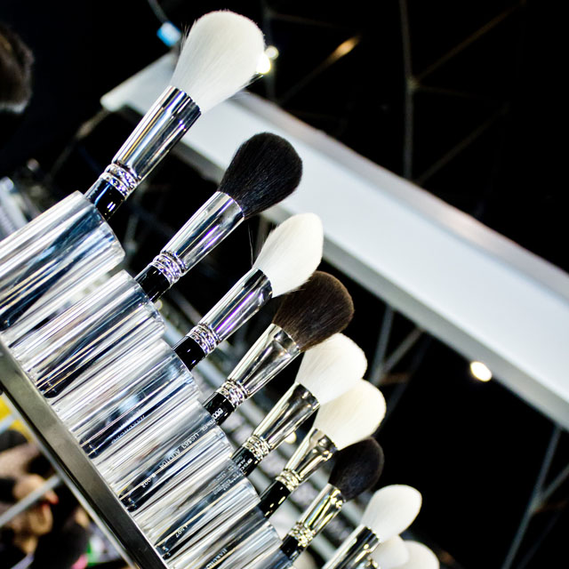 Famous Hakuhado brushes - IMATS Sydney