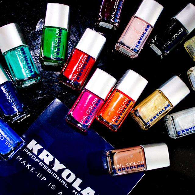 Professional make-up brand Kryolan nail polish range