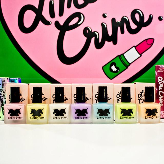 Lime Crime nail polish range