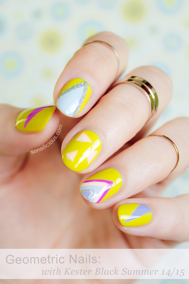 geometric nails with kester black summer 2015