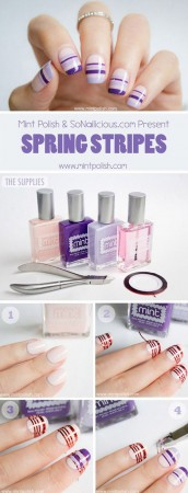 striping tape nail art how to