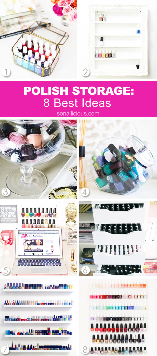 8 nail polish storage ideas