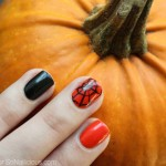 Easy Spider Web Halloween Nail Art How To