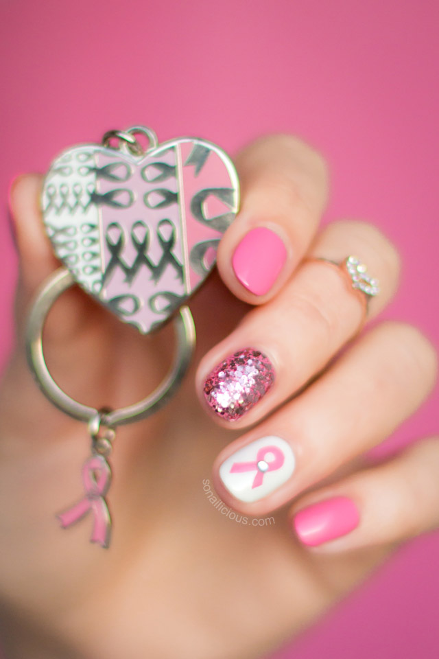 Pink Nails breast cancer awerness