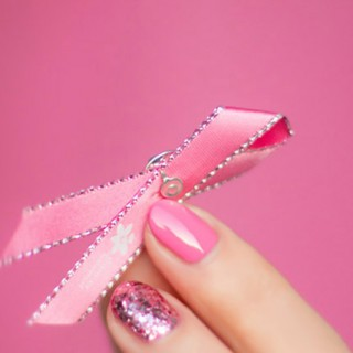 Pink Ribbon Nails breast cancer awareness
