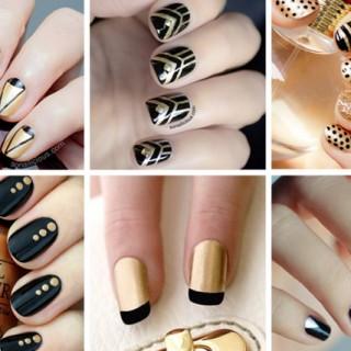 10 BLACK AND GOLD NAIL DESIGNS