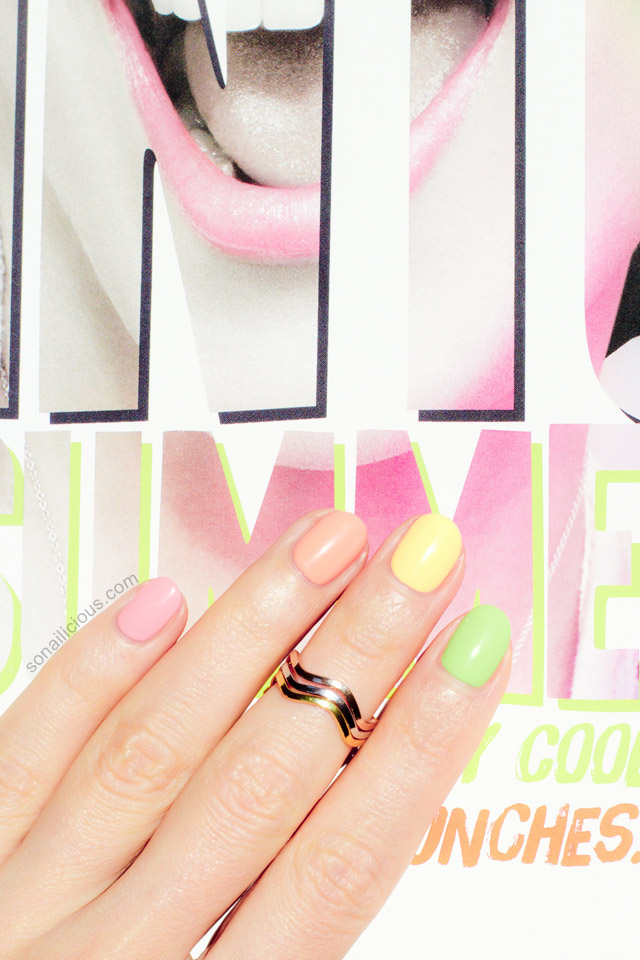 Maybelline Bleached Neons polishes