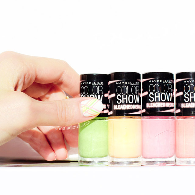 Maybelline Bleached Neons swatches