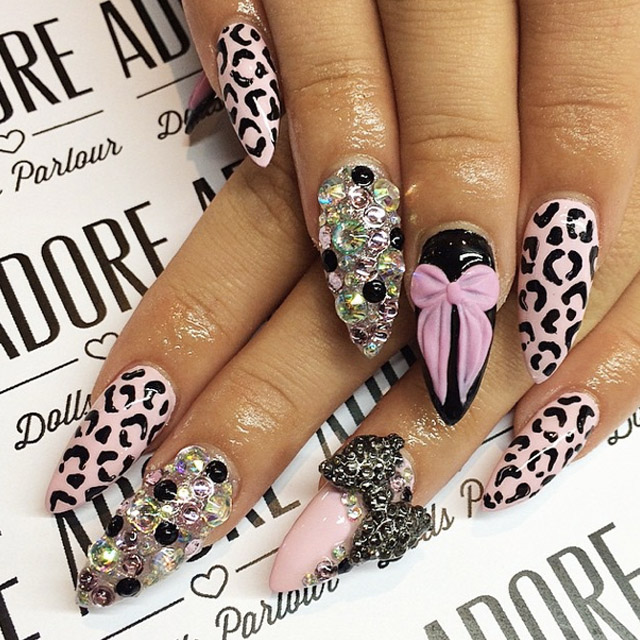 Nails that will hold their own conversaion by Nicole