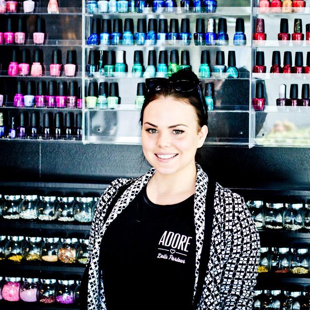 Nicole Hague in Adore Dolls Parlour salon in Gold Coast, Australia