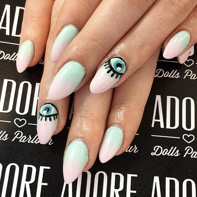 Ombre Eye mani by Nicole, Adore Girls Parlour
