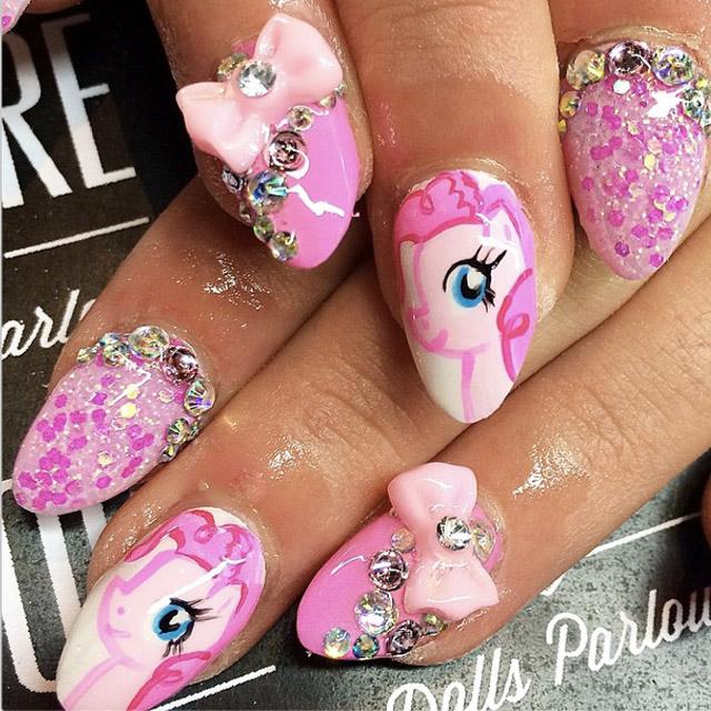 Pink unicorn nails by Nicole